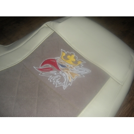 SCANIA bőr üléshuzat PIROS 2004 után