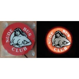 "LED tábla 18x18 ""NUDE BUS CLUB"""