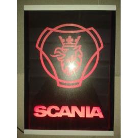 Gravírozott LED-es tábla SCANIA OLD